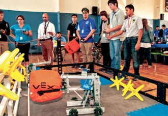 Robotics competition for Alachua County students